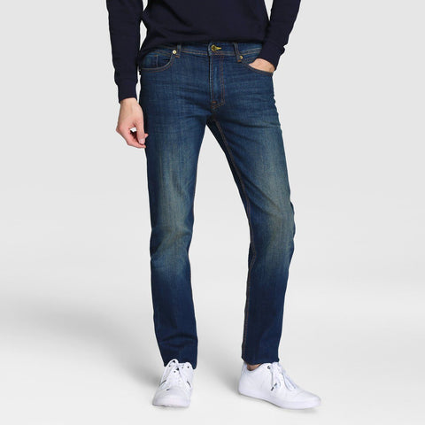 EASY WEAR-navy blue 'regular slim' stretch jeans (12 oz fabric)