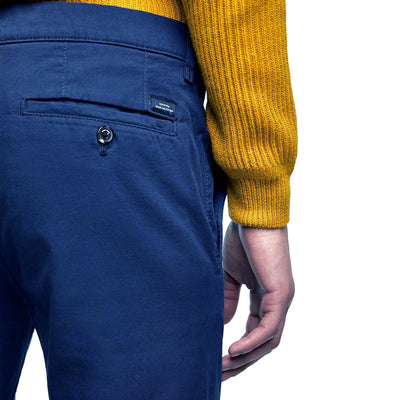 ZARA-bright blue 'skinny fit' stretch chino