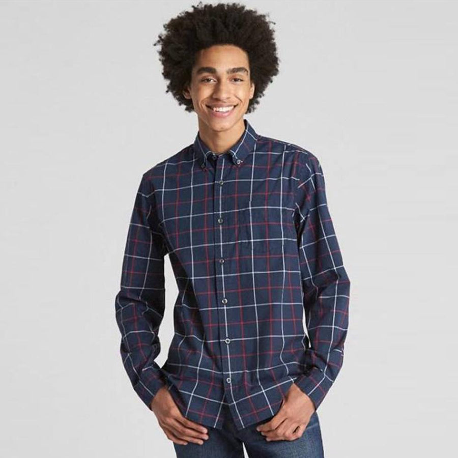 GAP-tapestry navy 'standard fit' button down shirt