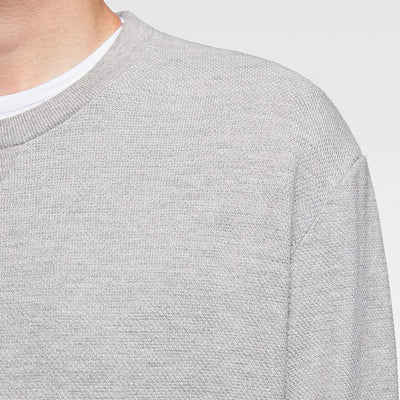 ZR-exclusive grey basic sweatshirt