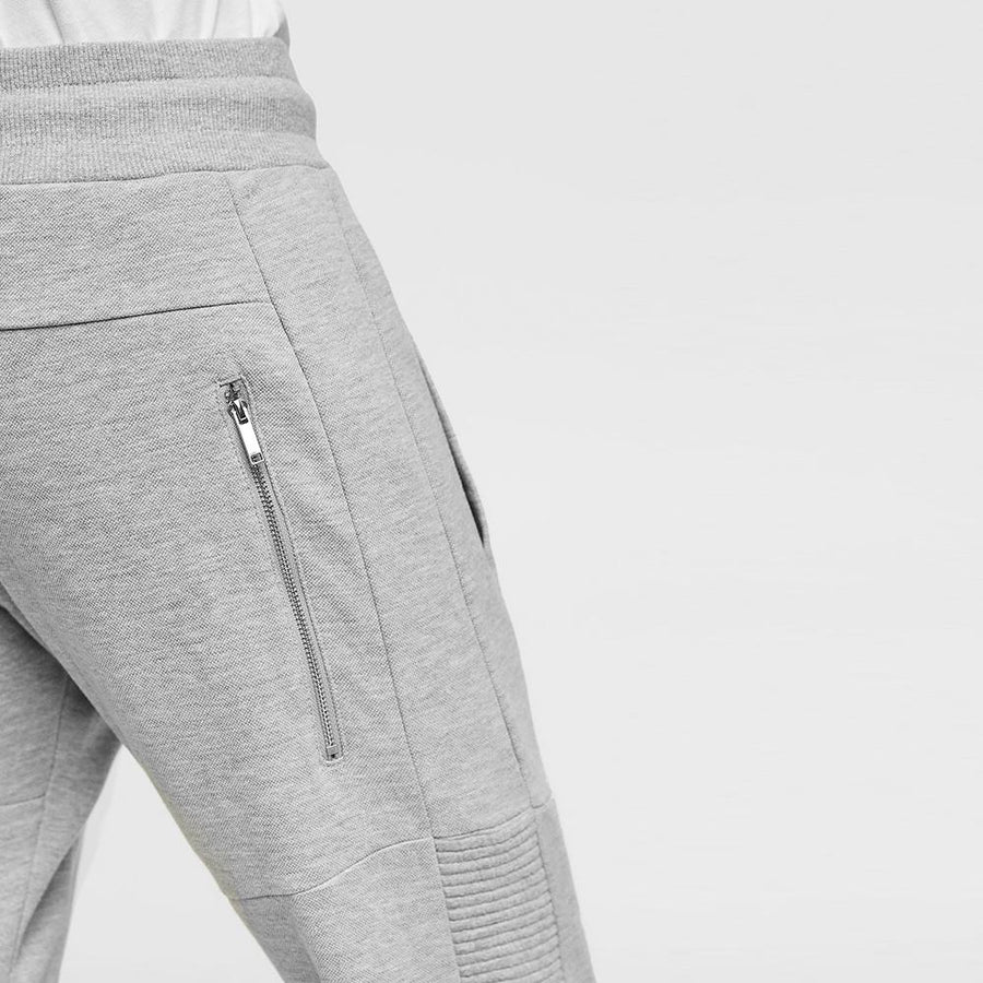 ZARA-exclusive gray marl biker jogging trouser