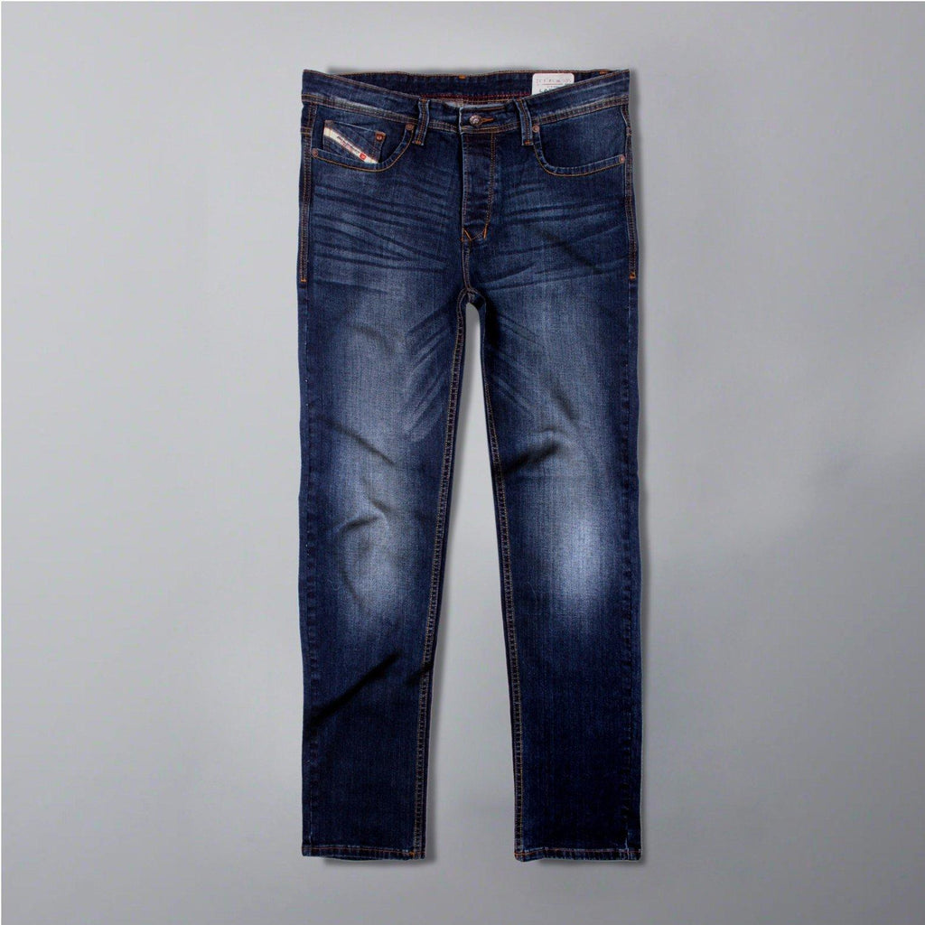 DIESEL-exclusive bell 'slim fit' stretch medium wash jeans