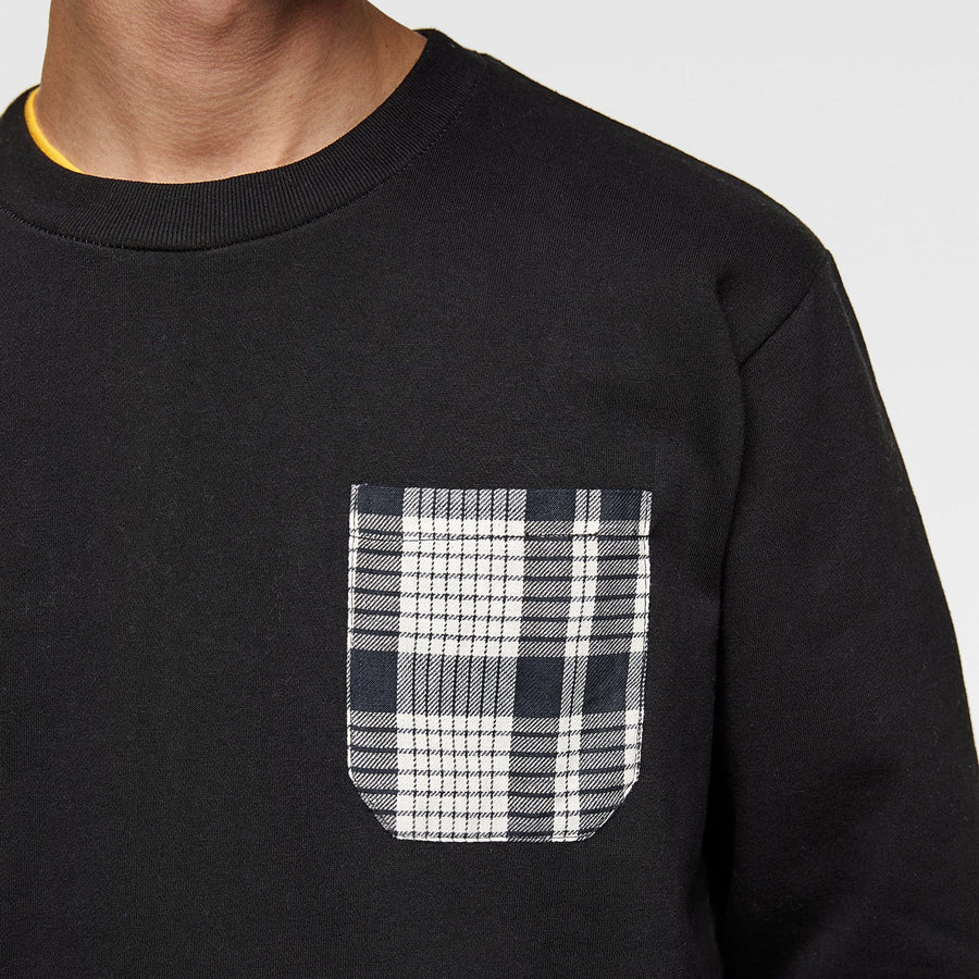 ZR-black sweatshirt with matching pocket