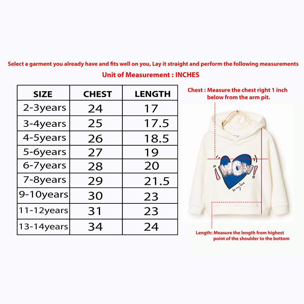 Girls Plush Premium Quality Fleece Printed Stylish Sweatshirt (30165)