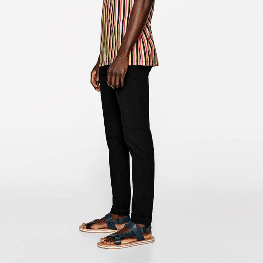 ZARA-black 'skinny fit' stretch cotton chino