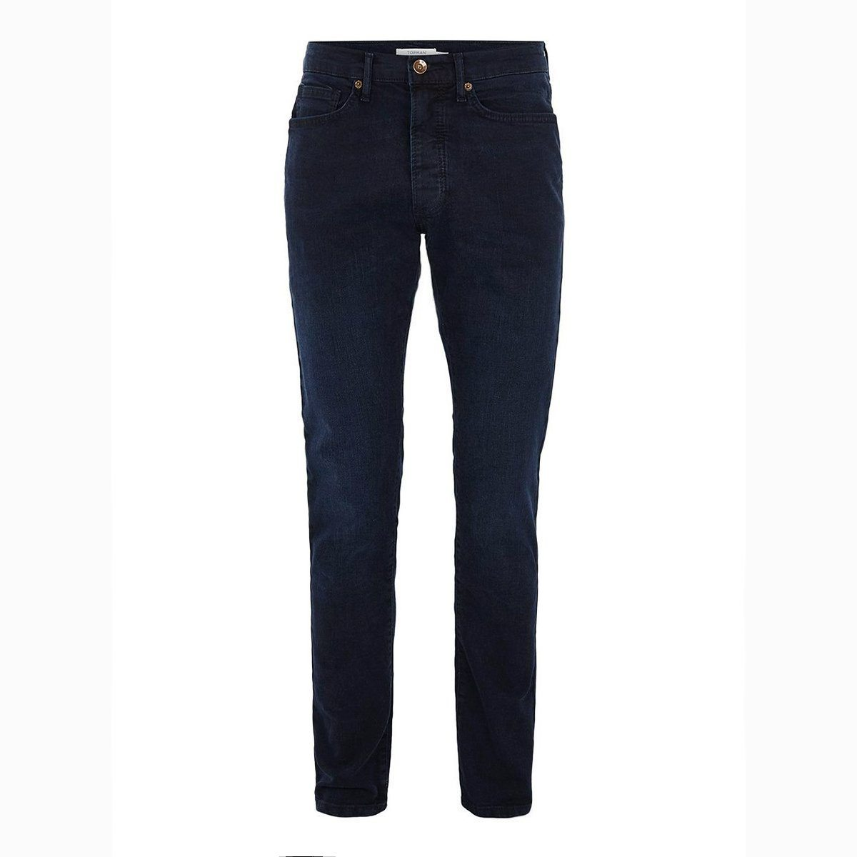 TM-blue overdyed 'skinny fit' stretch jeans