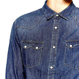 ZARA-exclusive 'slim fit' dark blue denim shirt