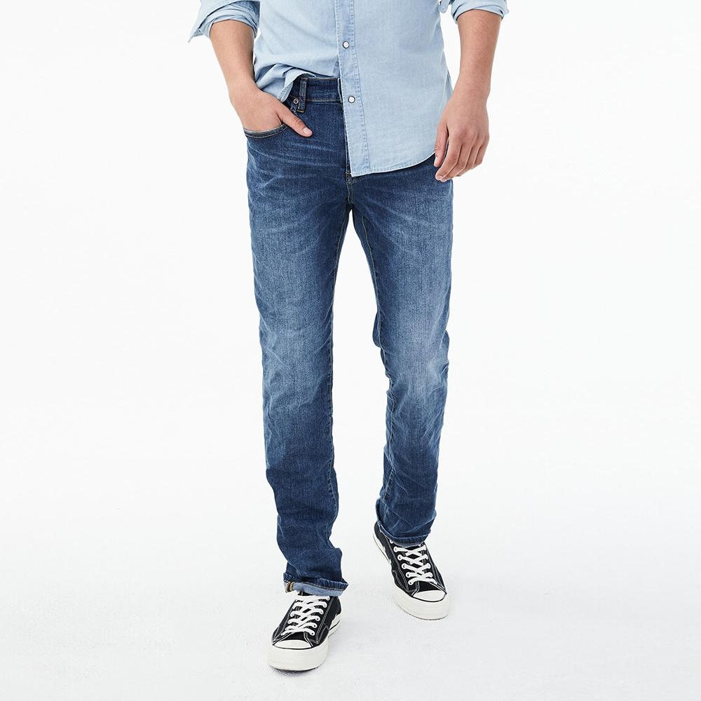 Aero mid blue 'slim fit' stretch jeans (1641)