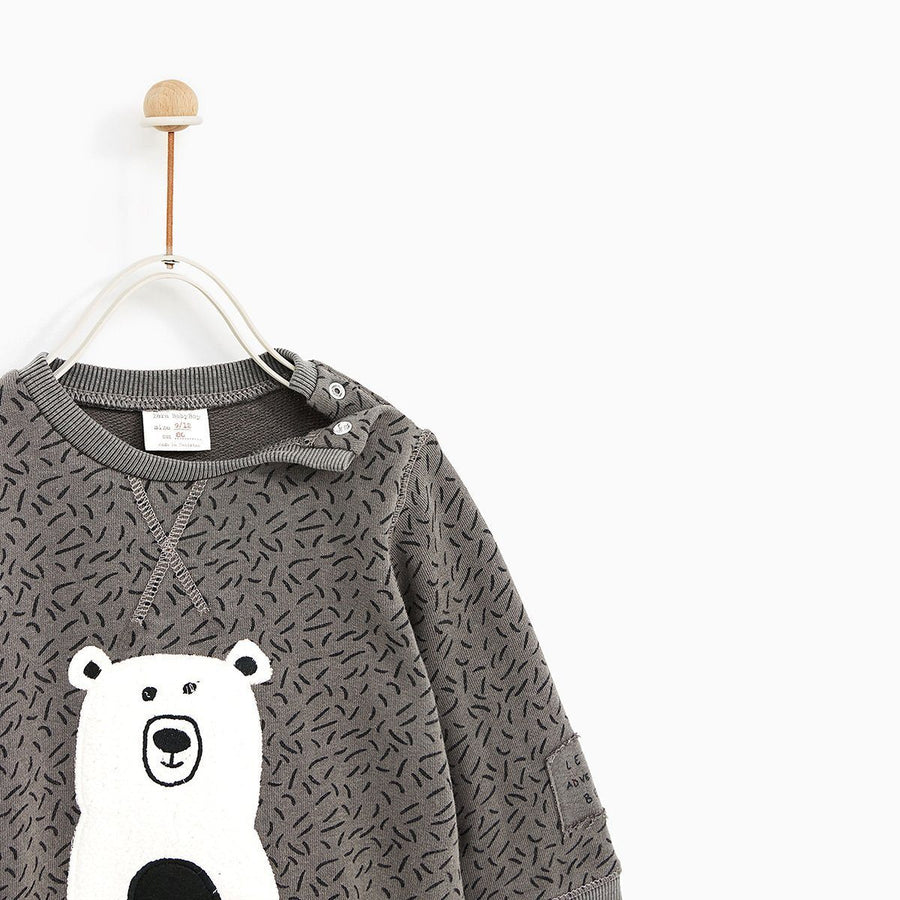 ZARA-kids stone positional animal sweatshirt (476)