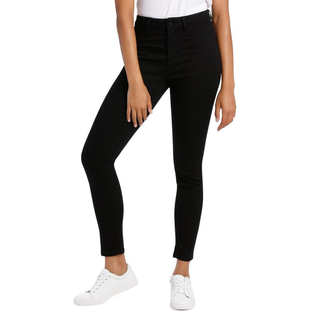 Women Black high waist 'skinny fit' stretch jeans (30002)