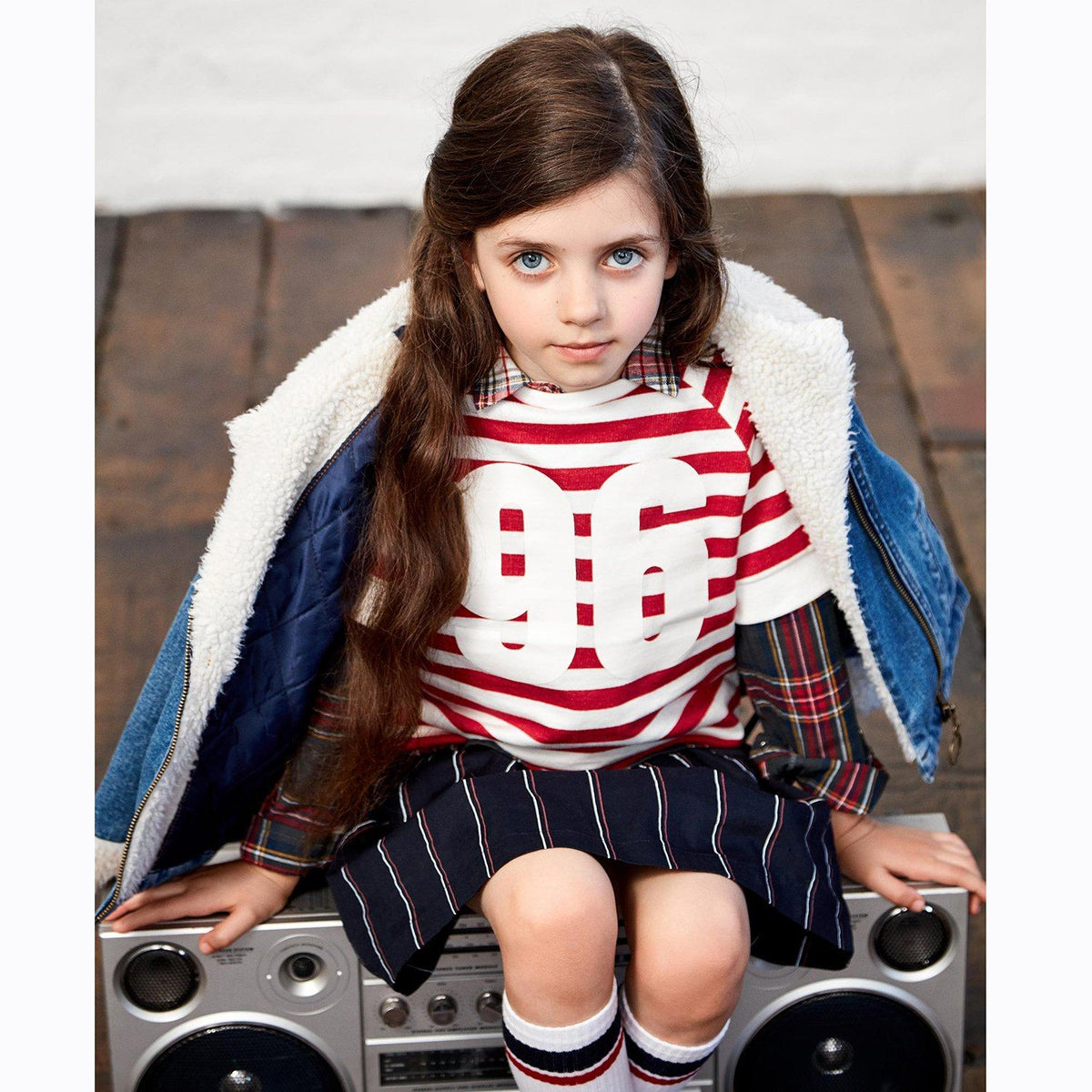 Zy exclusive girls stylish winter striped sweatshirt (1432)