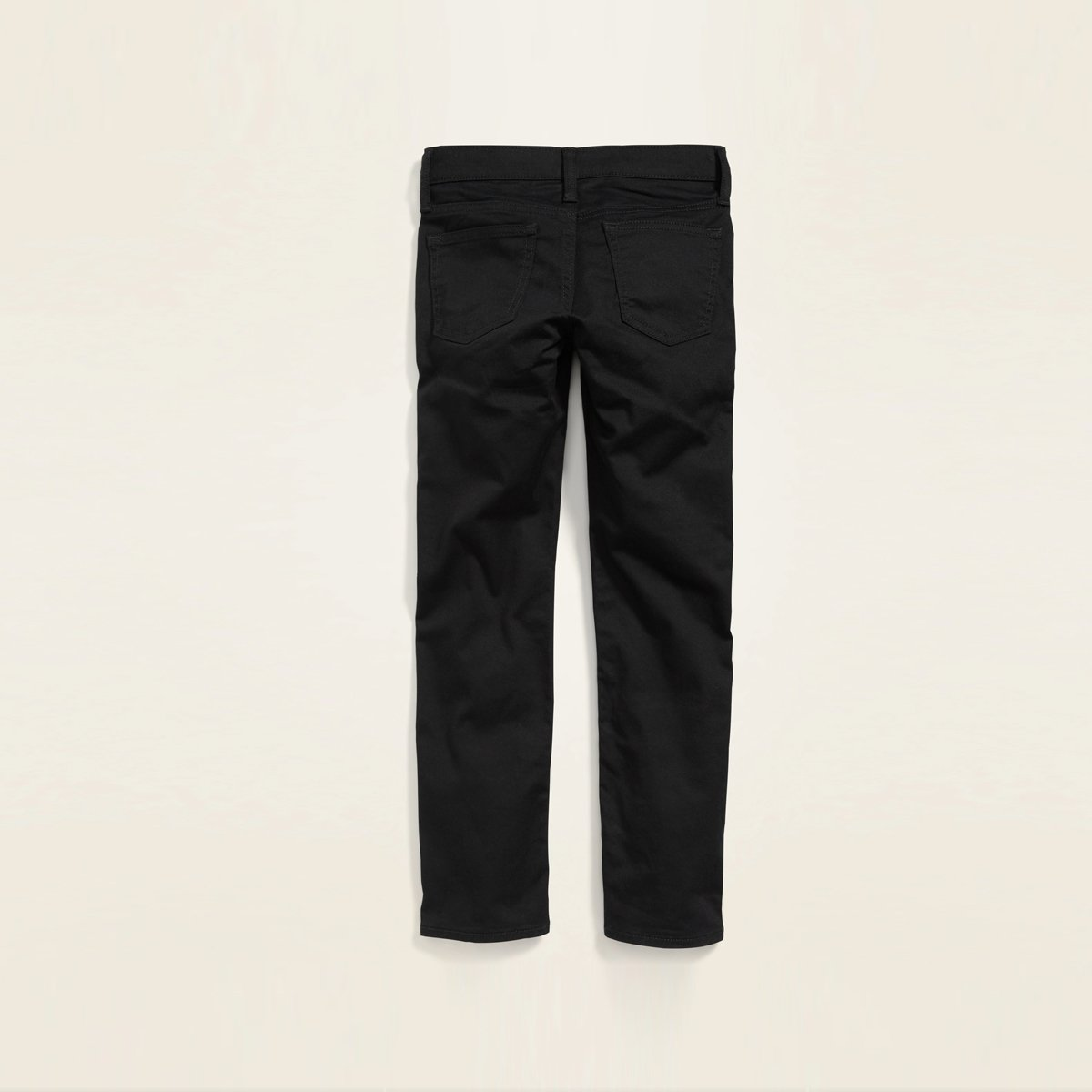 Exclusive Built-In Flex Jet Black Cotton Twill Pant for Boys (21051)