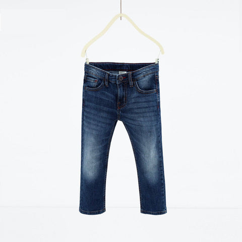 ZARA-boys mid blue 'slim fit' stretch jeans