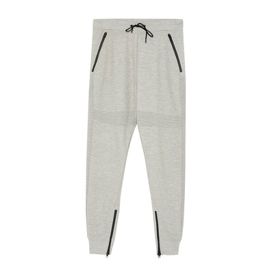 PULL&BEAR-gris claro technical jogging trousers with zips