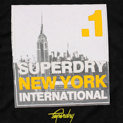SUPERDRY-black vintage logo duo new york t-shirt