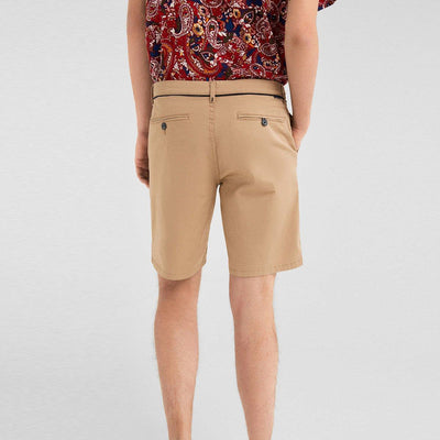 SF-beige live in waistband stretch bermuda short (959)