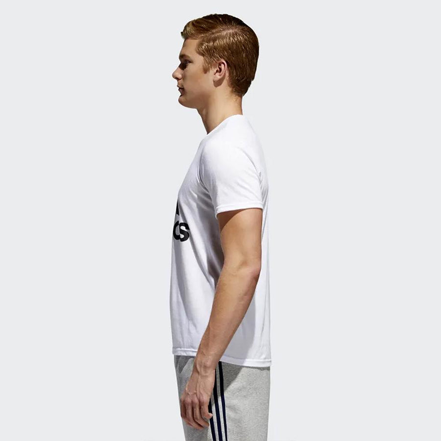 ADIDAS-white badge of sport classic t-shirt
