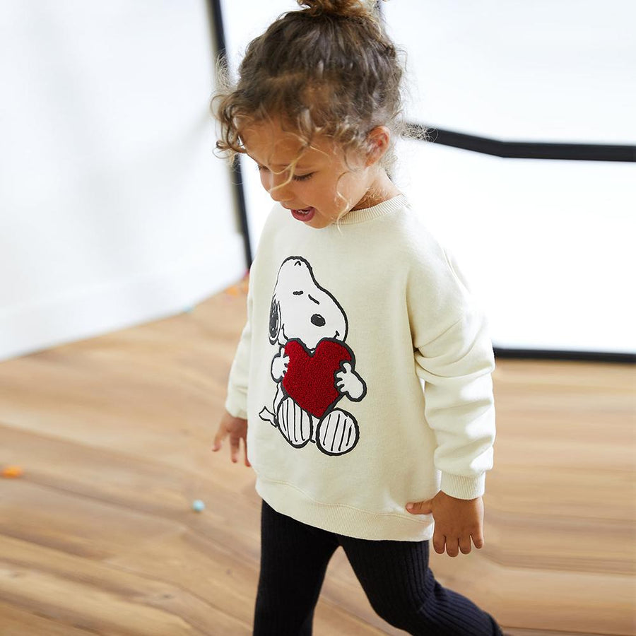 ZARA-kids white snoopy sweatshirt (621)