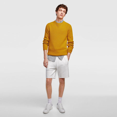 ZARA-white cotton bermuda shorts