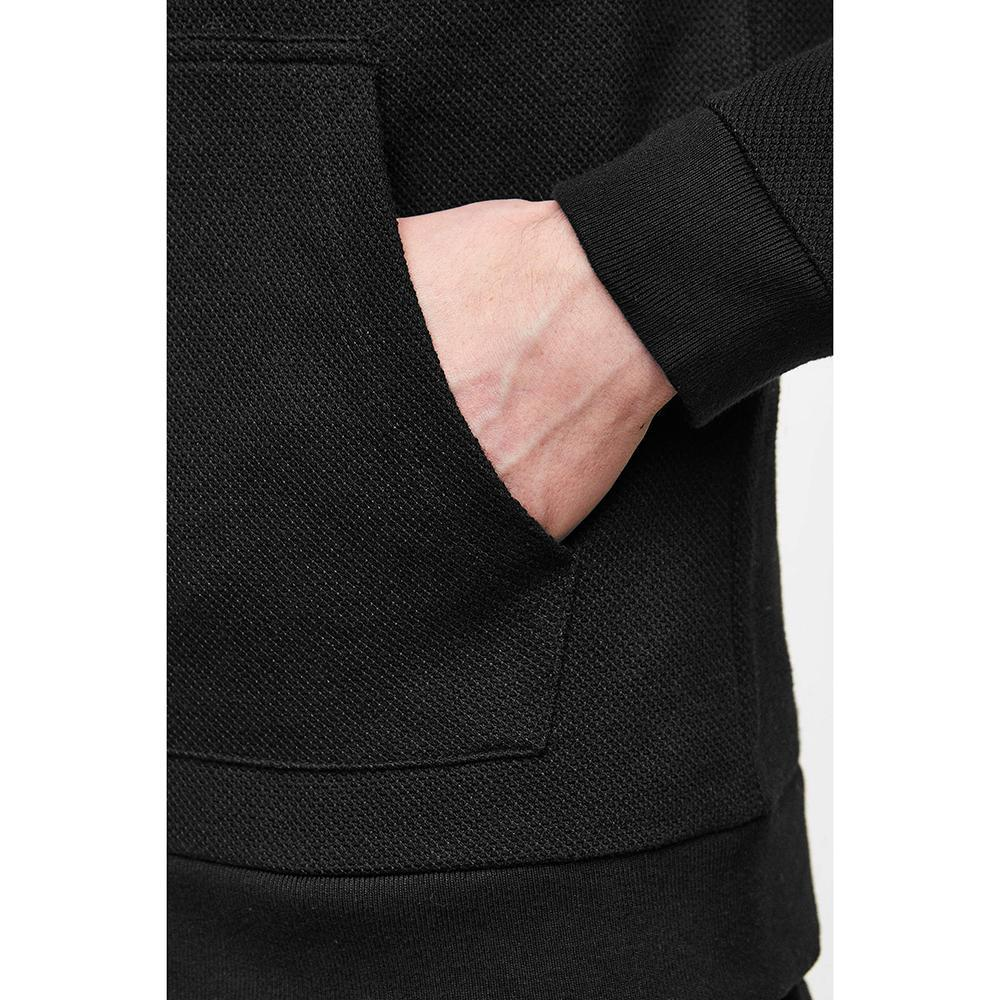 Zr exclusive black 'slim fit' hooded sweatshirt (1505)