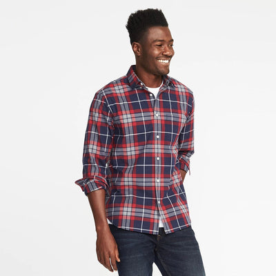 OLD NAVY-sea salt 'regular fit' built-in-flex classic shirt (Premium Fabric)