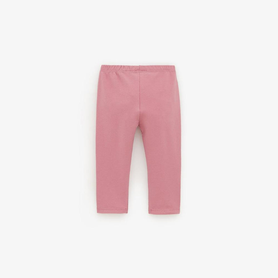 Zr kids pink plush trouser with label applique (1532)