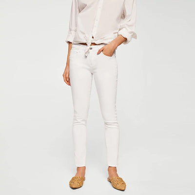 MANGO-white kim skinny push-up jeans