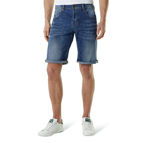 MUSTANG-mid blue stretch chicago denim short