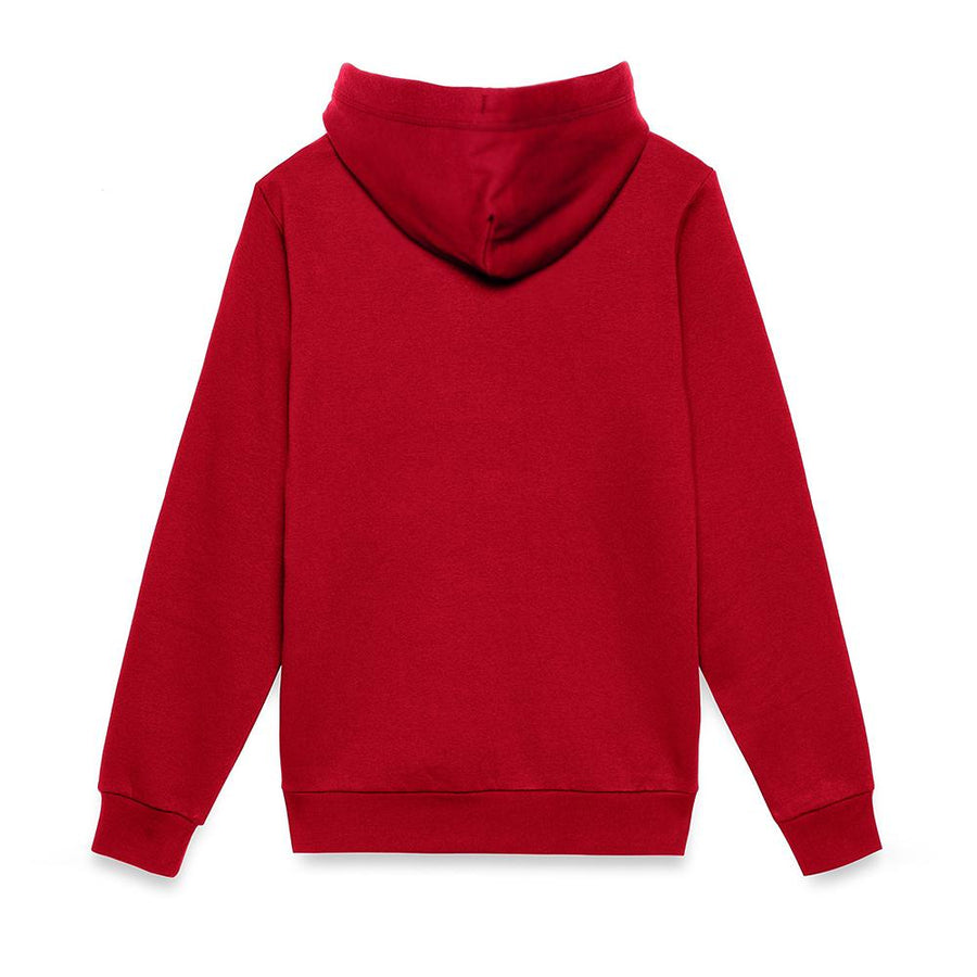 Red zion fleece hooded sweater