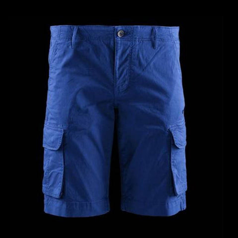 BOMBOOGIE-blue royal 6 pocket cargo short
