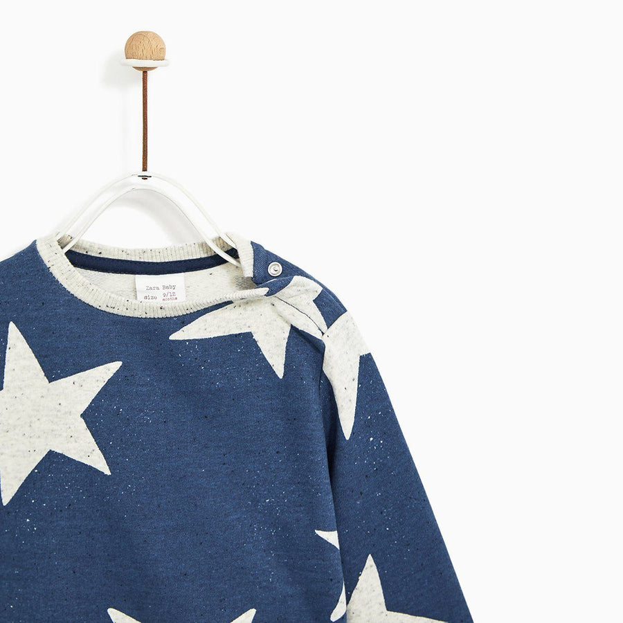 ZARA-kids plush star printed sweatshirt (472)