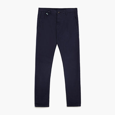 ZR-exclusive navy 'skinny fit' stretch cotton chino