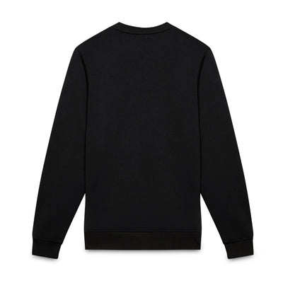 Black ioab fleece embroidered sweatshirt