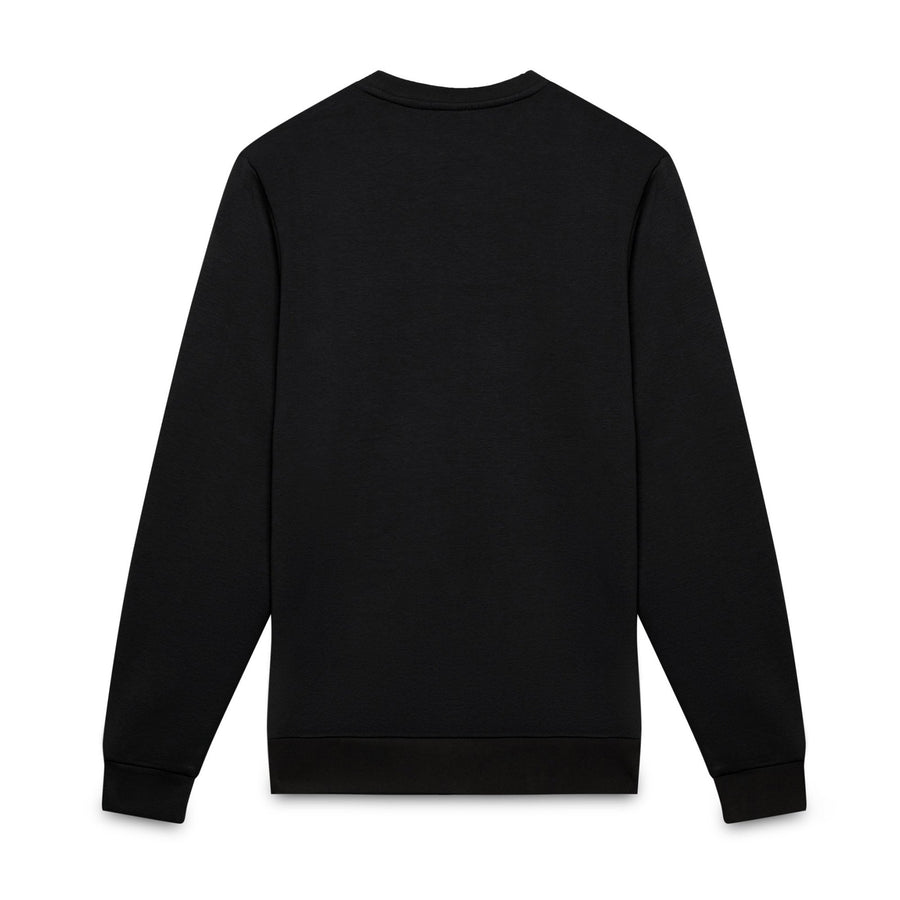 SERGIO TACCHINI-black ioab fleece embroidered sweatshirt