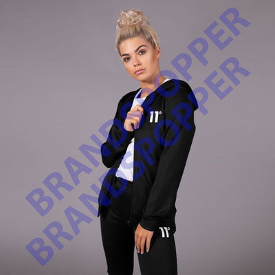 Exclusive women black core zip poly zipper