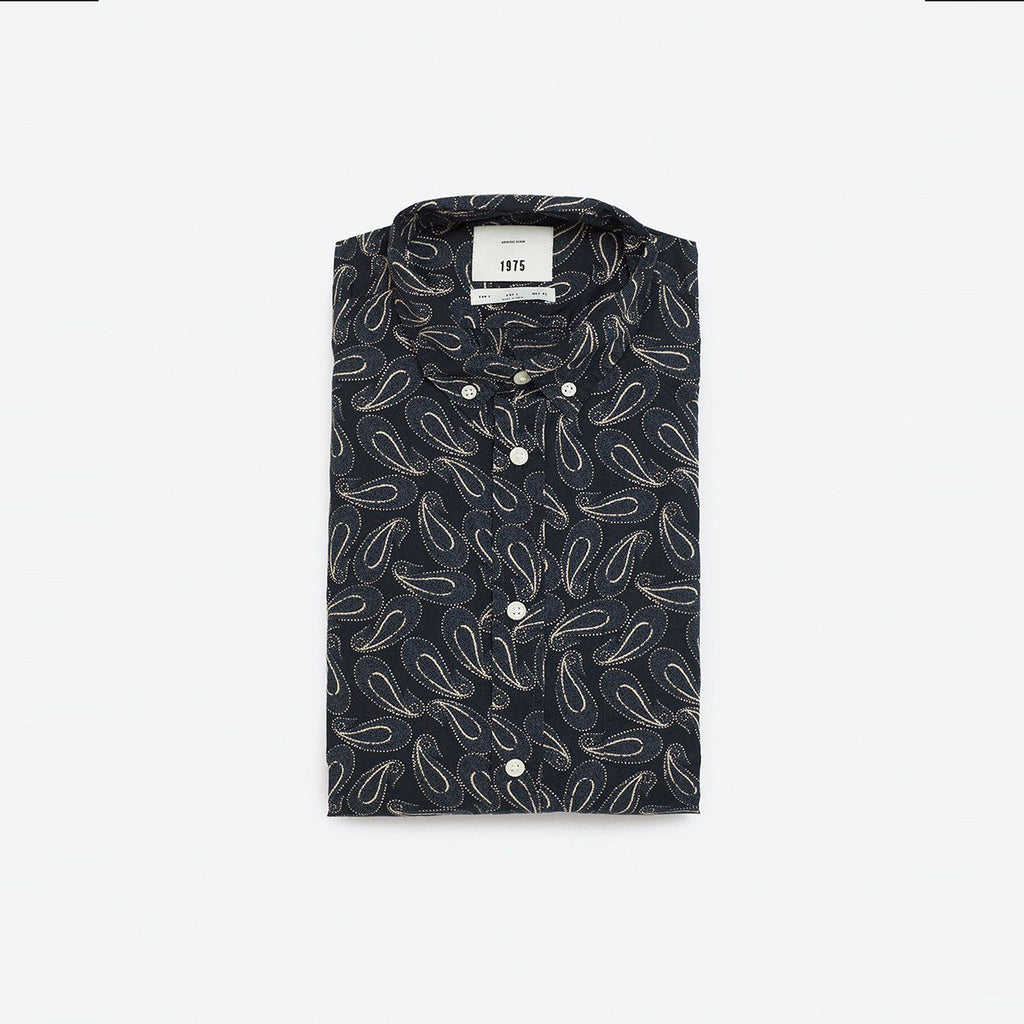 ZARA-paisley print 'super slim fit' shirt