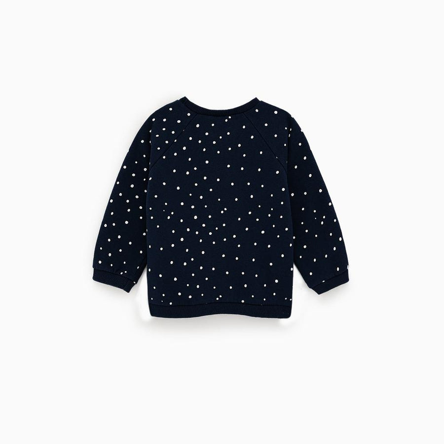 Zr kids navy blue polka dot sweatshirt (1465)