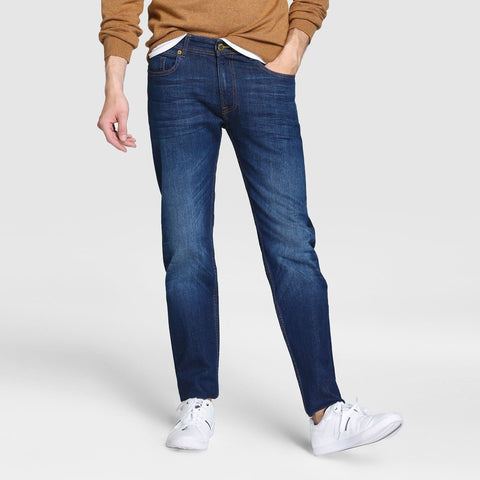 EASY WEAR-dark blue 'regular slim' stretch jeans (12 oz fabric)