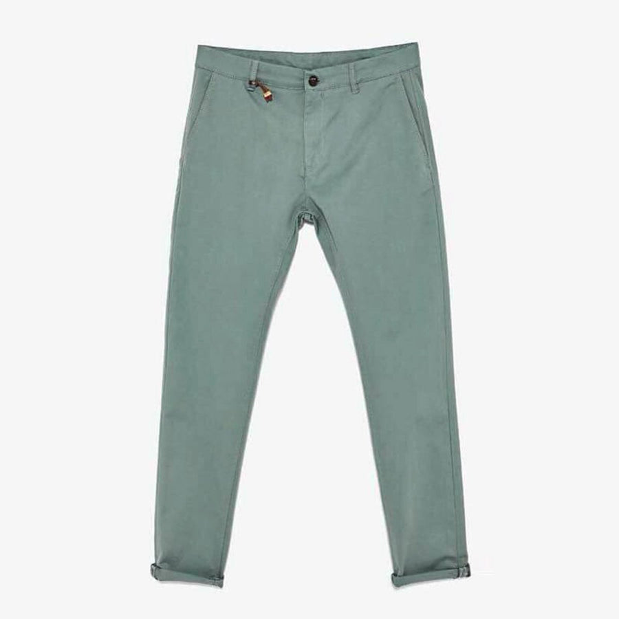 ZARA-exclusive sea green 'skinny fit' stretch cotton chino