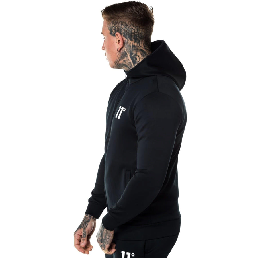 Exclusive black 'muscle fit' core zip poly zipper