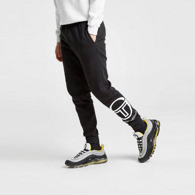 Black itzal fleece jogger trouser