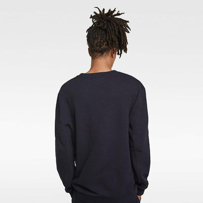 ZR-exclusive navy basic sweatshirt