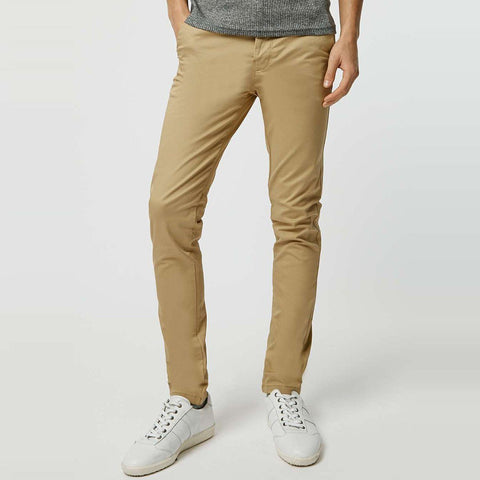 TOPMAN-khaki stretch 'skinny fit' cotton chino