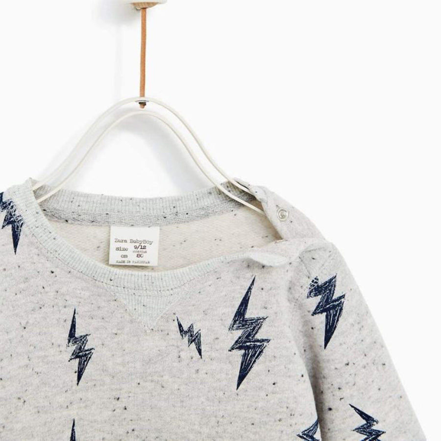 ZARA-kids lightening grey sweatshirt ⚡️ (483)