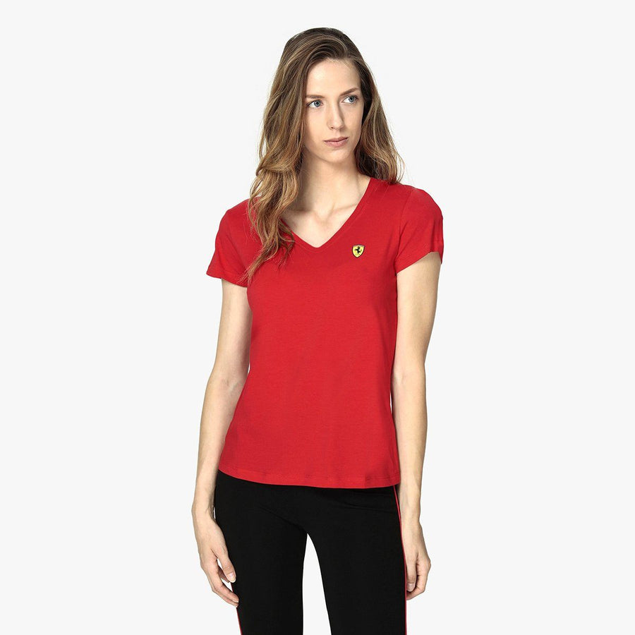 Ferr women exclusive 'slim fit' scuderia v-neck t-shirt (1023)