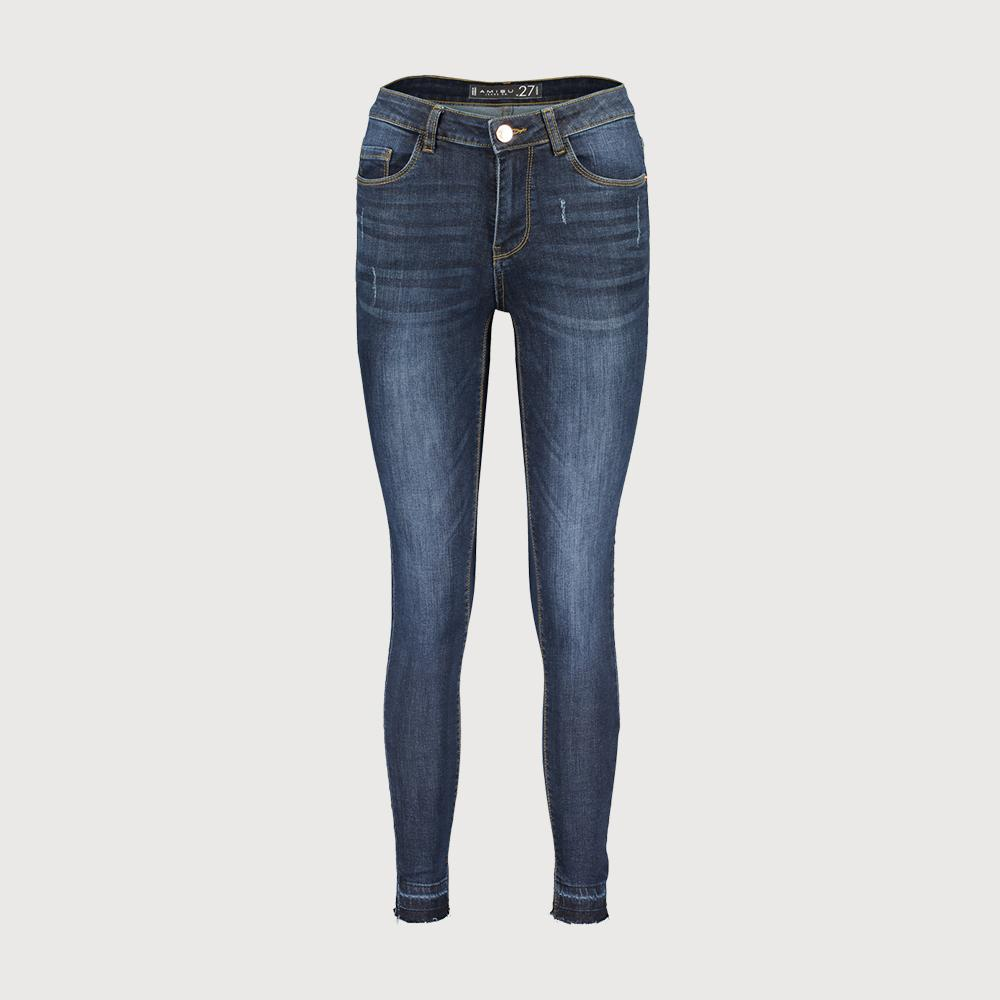 Exclusive women dark blue 'skinny fit' stretch jeans (1571)