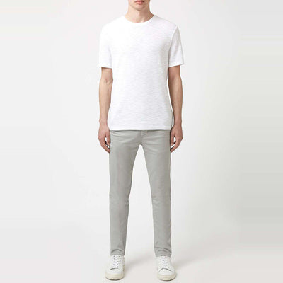 TOPMAN- light grey stretch 'skinny fit' cotton chino