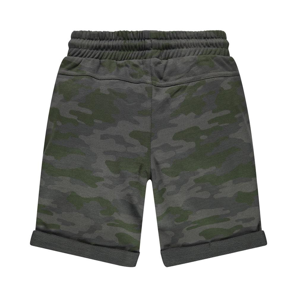 Boys camouflage 'get up and go' printed Bermuda short (2543)