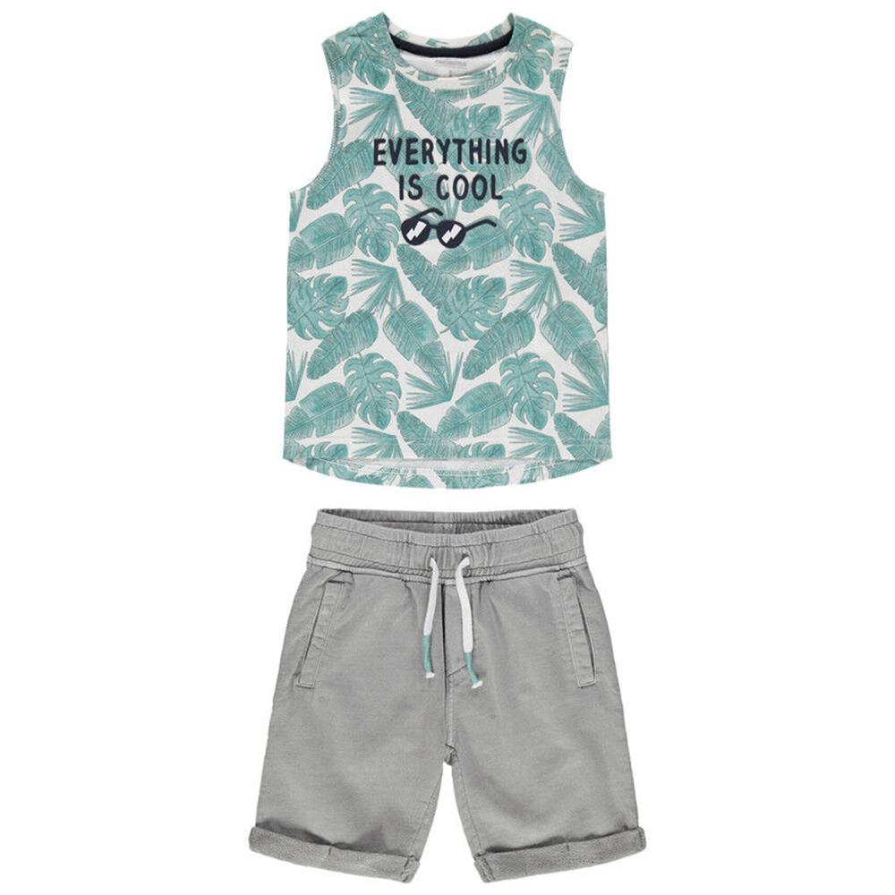 Boys set with printed tank top and Bermuda shorts with Pockets (2544)