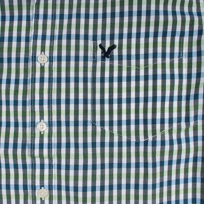 AMERICAN EAGLE-mint classic plaid button down shirt